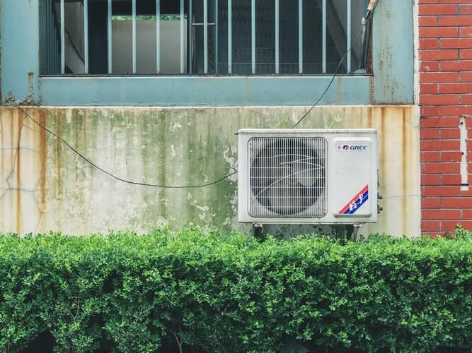 Housse pour climatiseur en Bois ou en aluminium